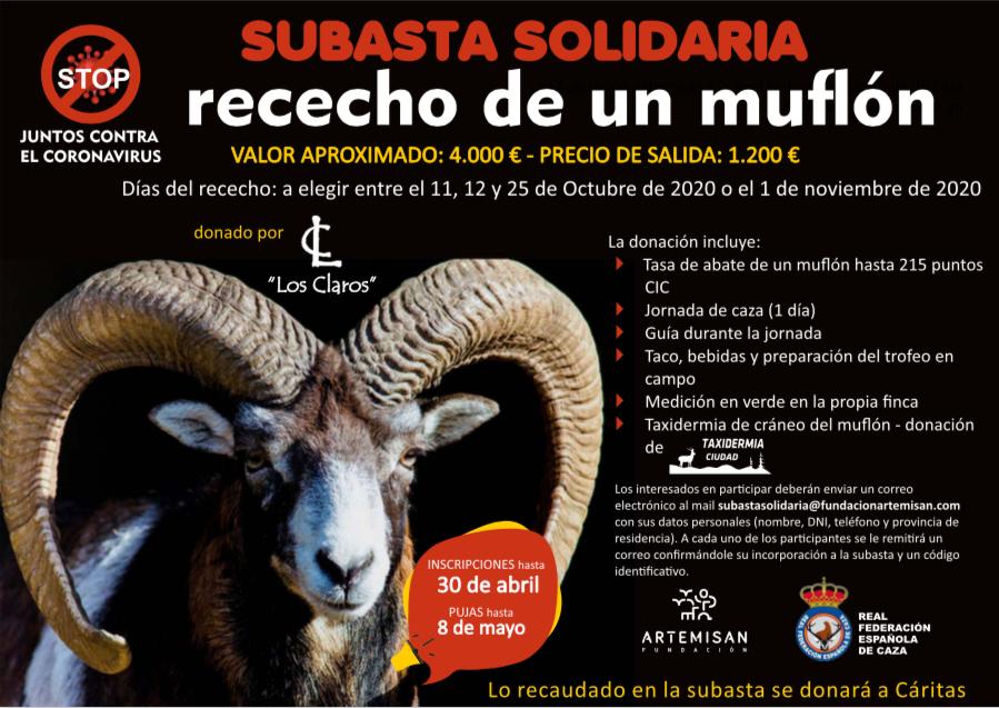 subasta solidaria muflón coronavirus