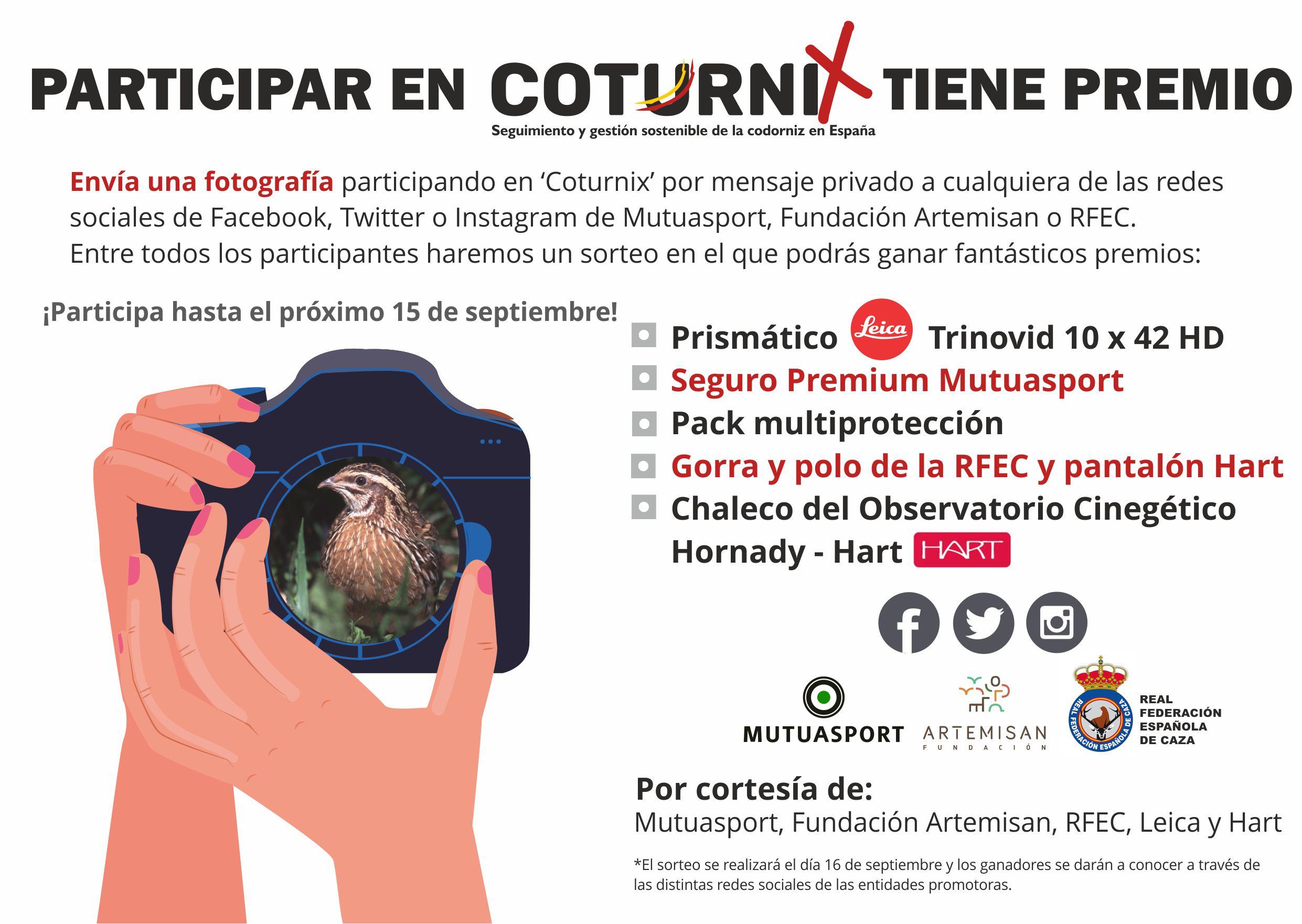 Sorteo Participar en COTURNIX tiene premio